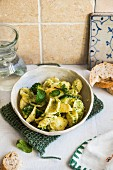 Orecchiette pasta with broccoli and mint