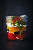 Preserved peppers with rosemary