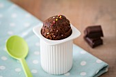 Mini chocolate cake in a yoghurt pot