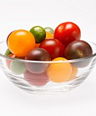 Bowl of Heirloom Cherry Tomatoes from Side