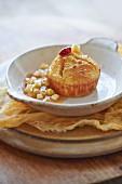 Butternusskürbis-Souffle mit Apfelchutney