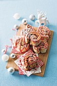 Sticky christmas buns