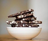 Chocolate nut brittle, stacked
