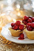Mini pork pies with cranberries