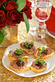 Goose liver pate on toast