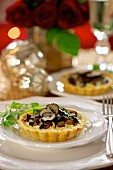 A mushroom and truffle tartlet