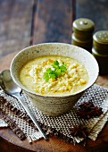 Chicken and sweetcorn soup with star anise (China)