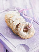 Rosquillos (doughnuts, Spain) with icing sugar