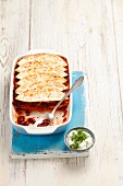 Tortilla bake with kidney beans