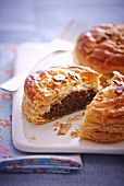 Hazelnut and chocolate puff pastry pies