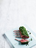 Lamb chops with herb crust