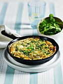Frittata with spring onions, watercress and tarragon