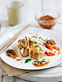 Scallops with miso and vegetables (Asia)