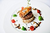 Beef Tenderloin With Seared Foie Gras and Grilled Vegetables