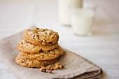 Gestapelte Cookies