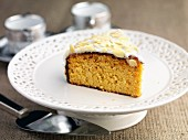 A slice of gluten-free orange and almond cake