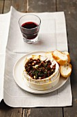 Baked Camembert with sundried tomatoes