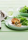 Ricotta tartlet with peas