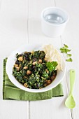 Vegetarian spinach and lentil soup