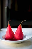 Red wine pears