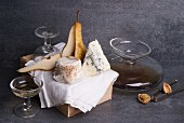 Cheese with pears, walnuts and Port