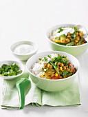 Schnelles Gemüsecurry mit Reis