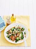 Mixed lentil salad with yogurt