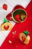 Erdbeer-Cupcake