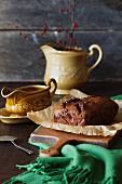 Rustikales Schokoladen-Bananen-Brot
