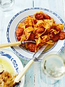 Papardelle with salsiccia