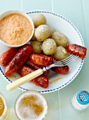 Salsiccia with potatoes and pepper cream