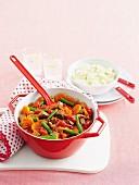 Gemüseeintopf mit Rindfleisch und Speck