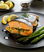salmon roasting joint with lemon butter and dill stuffing
