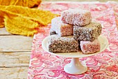 Lamingtons (sponge cake slices, Australia)