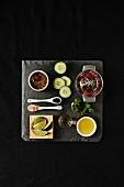 Tray of Margarita Ingredients