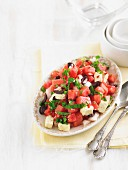 Chunky watermelon salsa