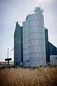 Grain Storage Building and Two Industrial Silos