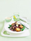 Paprika beef with potatoes