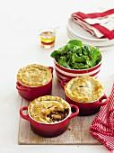 Beef pot pies