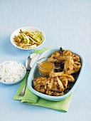 Satay chicken wings with asian slaw