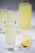 Limoncello with lemon zest