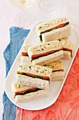 Lachs-Ei-Sandwiches