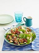 Caesar salad with turkey meatballs