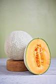 A cantaloupe melon