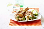 Chicken piri-piri with banana salsa