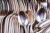 Silver cutlery (close-up)