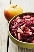 Apple-red cabbage and a fresh apple