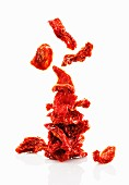 A stack of dried tomatoes