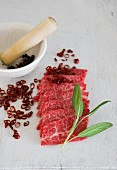 Wagyu with sage and chilli