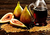 Mustard seeds, figs and vinegar